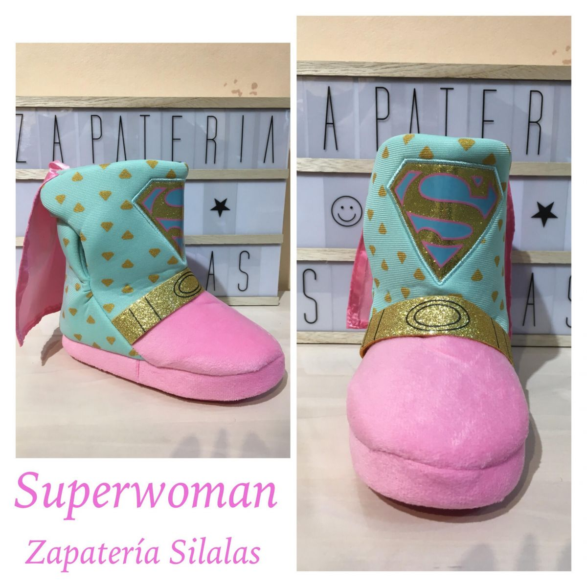 zapatilla super woman