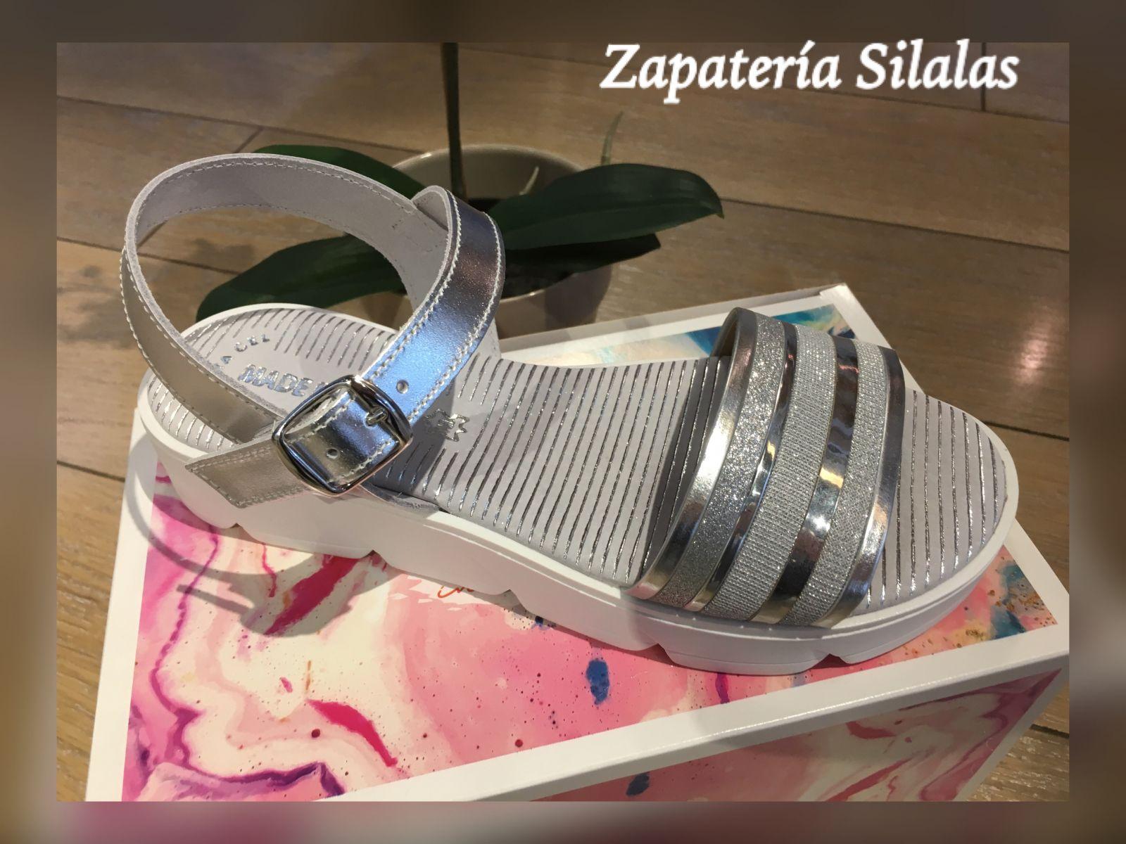 sandalia suela blanca